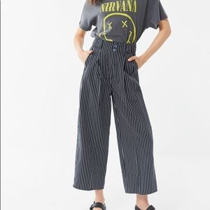 High waisted urban outfitters paper bag trouser
